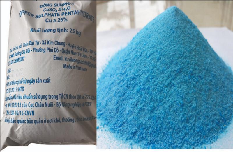 Đồng Sunphat CuSO4.5H2O là gì