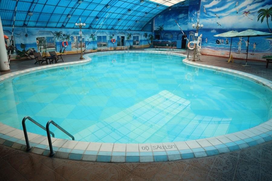 CuSO4 được dùng xử lý nước bể bơi